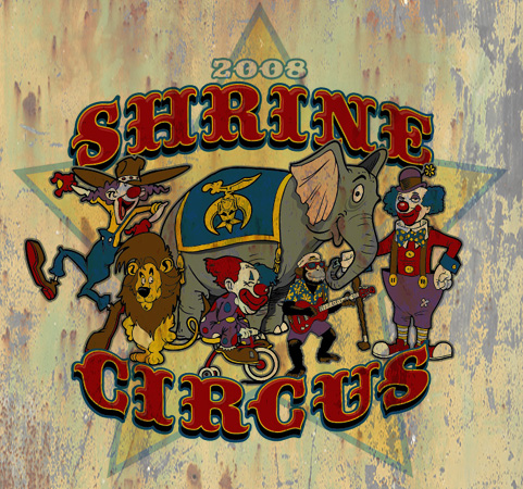 shrine circus by Greg Dampier - Illustrator & Graphic Artist of Portland, Oregon