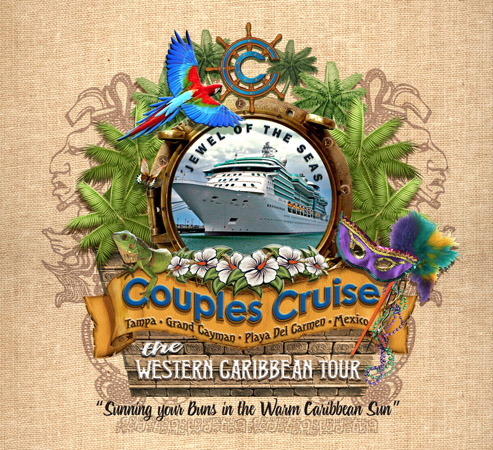 couples cruise porthole design 5 by Greg Dampier - Illustrator & Graphic Artist of Portland, Oregon