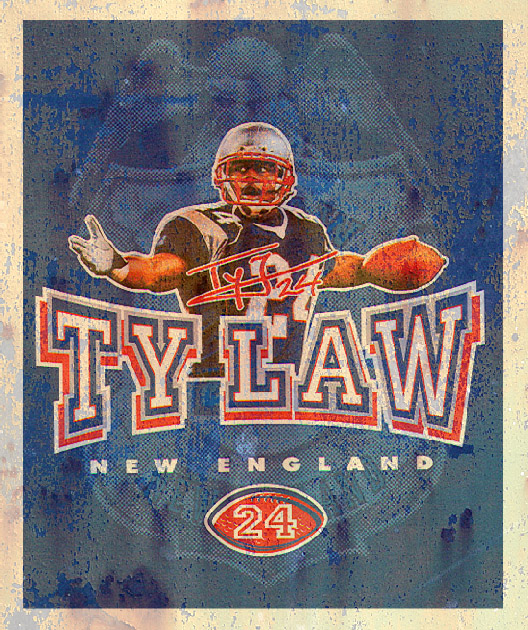 ty law by Greg Dampier - Illustrator & Graphic Artist of Portland, Oregon