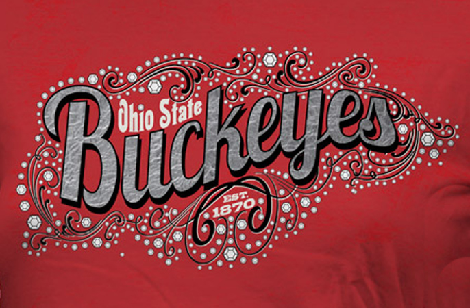 OSU Buckeyes bling by Greg Dampier - Illustrator & Graphic Artist of Lake Wales, Florida