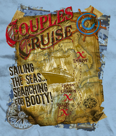 Couples cruise promo by Greg Dampier - Illustrator & Graphic Artist of Portland, Oregon