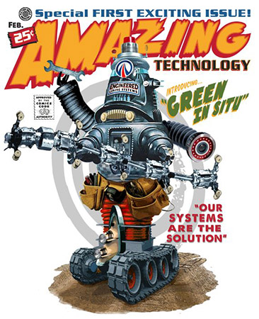 Amazing technology robot illustration by Greg Dampier - Illustrator & Graphic Artist of Portland, Oregon