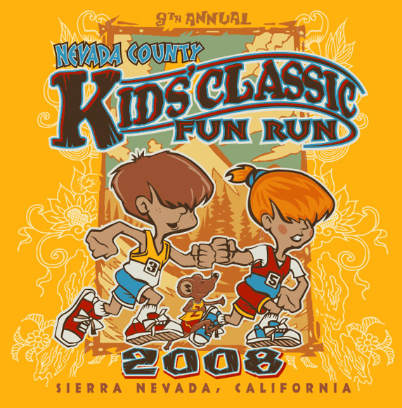 T Shirts Kids Classic Fun Run By Greg Dampier