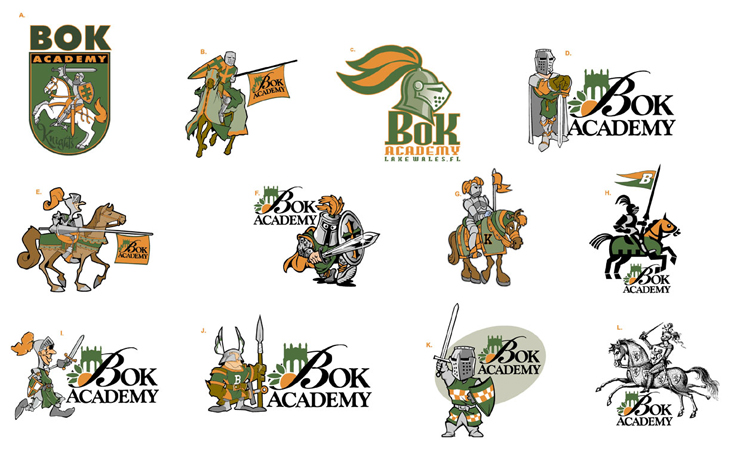 Bok Logos by Greg Dampier - Illustrator & Graphic Artist of Portland, Oregon