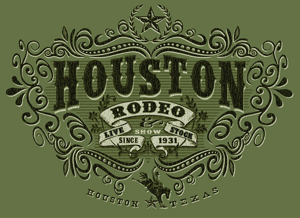 Houston Rodeo by Greg Dampier - Illustrator & Graphic Artist of Portland, Oregon