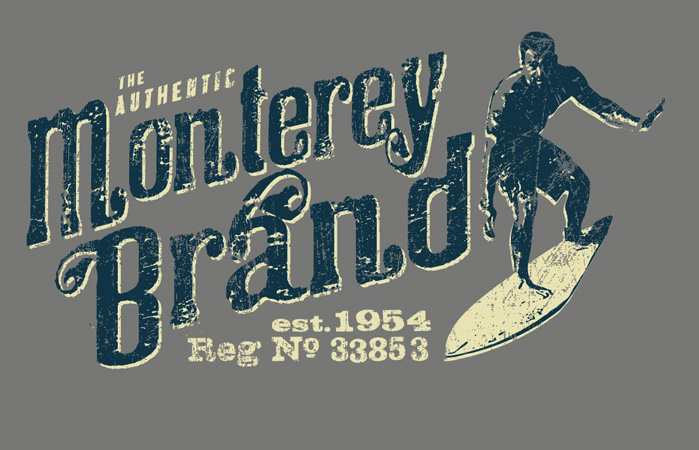 Monterey brand by Greg Dampier - Illustrator & Graphic Artist of Portland, Oregon