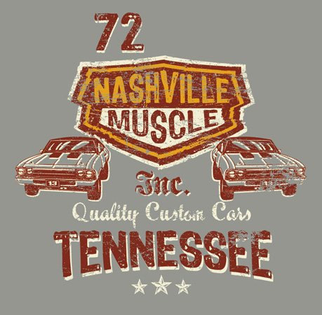 nashville muscle by Greg Dampier - Illustrator & Graphic Artist of Portland, Oregon