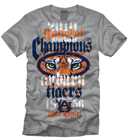 Auburn chamions by Greg Dampier - Illustrator & Graphic Artist of Portland, Oregon
