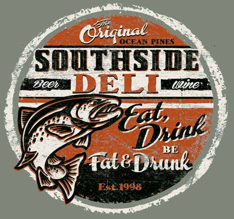 Southside Deii design by Greg Dampier - Illustrator & Graphic Artist of Portland, Oregon