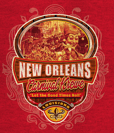 New Orleans Carnival Krewe Parade design by Greg Dampier - Illustrator & Graphic Artist of Portland, Oregon
