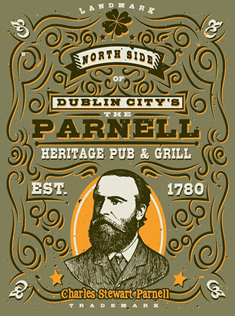 Parnell Heritage Pub Tee by Greg Dampier - Illustrator & Graphic Artist of Portland, Oregon