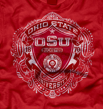 osu shield red by Greg Dampier - Illustrator & Graphic Artist of Portland, Oregon