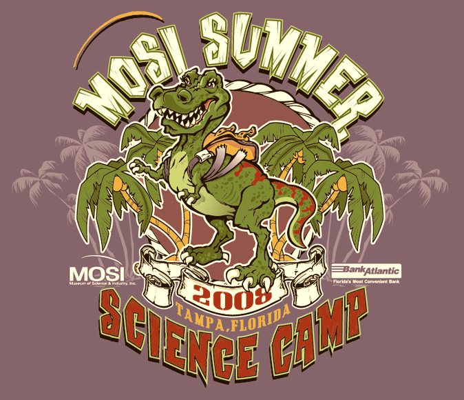 mosi summer camp by Greg Dampier - Illustrator & Graphic Artist of Lake Wales, Florida