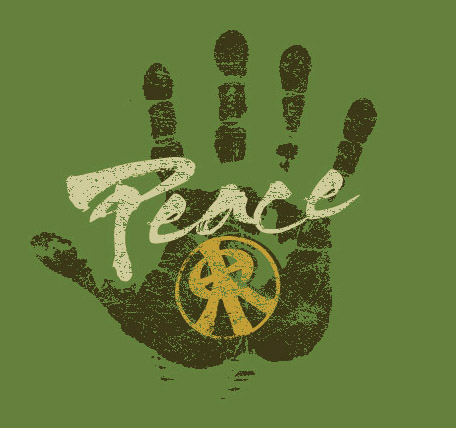 peace hand by Greg Dampier - Illustrator & Graphic Artist of Portland, Oregon