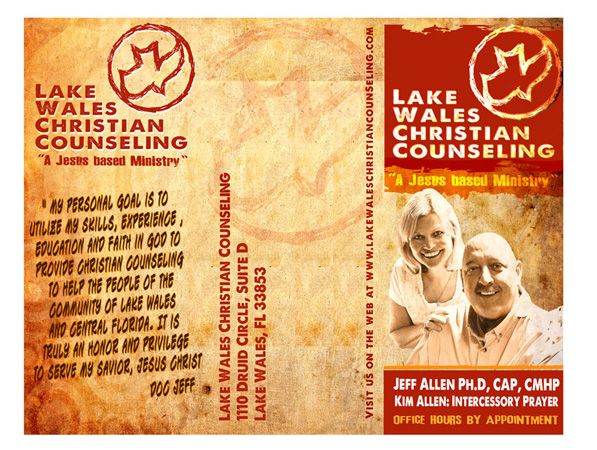 LWCC brochure outside by Greg Dampier - Illustrator & Graphic Artist of Lake Wales, Florida