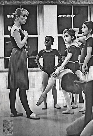 Marion Tonner teaching ballet bw by Greg Dampier - Illustrator & Graphic Artist of Portland, Oregon