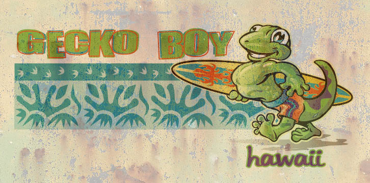 gecko boy by Greg Dampier - Illustrator & Graphic Artist of Portland, Oregon
