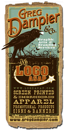 Greg Dampier & Co card by Greg Dampier - Illustrator & Graphic Artist of Portland, Oregon