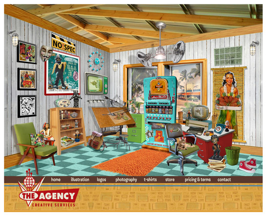 The Agency Web site by Greg Dampier - Illustrator & Graphic Artist of Portland, Oregon
