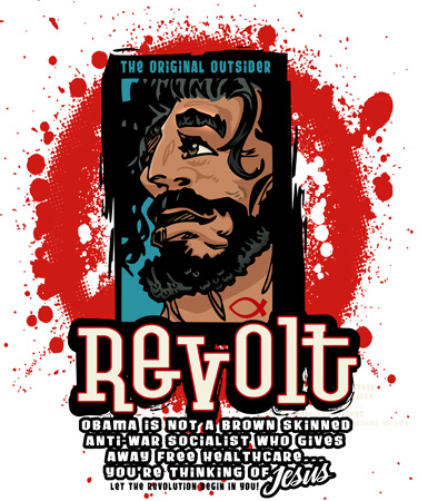 Revolt Jesus Tee by Greg Dampier - Illustrator & Graphic Artist of Portland, Oregon