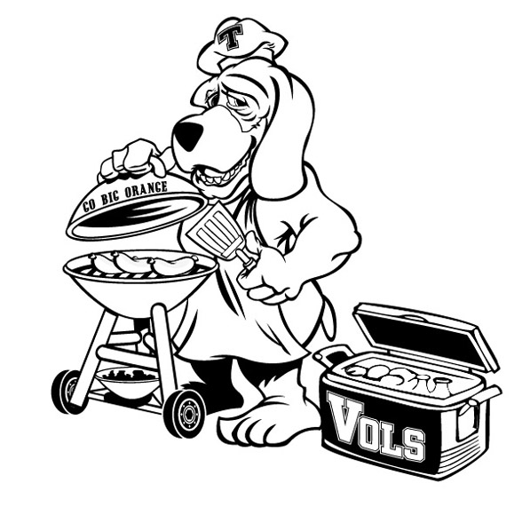 tenn vols dog inked by Greg Dampier - Illustrator & Graphic Artist of Lake Wales, Florida
