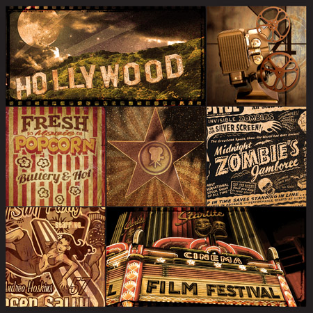 Hollywood montage by Greg Dampier - Illustrator & Graphic Artist of Lake Wales, Florida