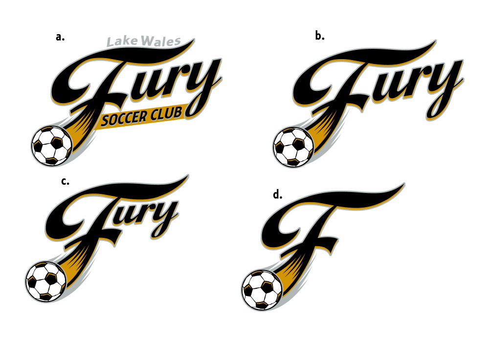 fury soccer club logos by Greg Dampier - Illustrator & Graphic Artist of Lake Wales, Florida