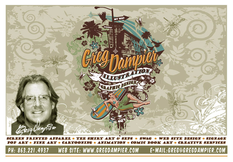 greg dampier promo 2009 by Greg Dampier - Illustrator & Graphic Artist of Portland, Oregon
