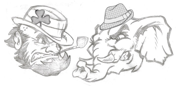 Sketch for mascots national Championship 13 by Greg Dampier - Illustrator & Graphic Artist of Portland, Oregon