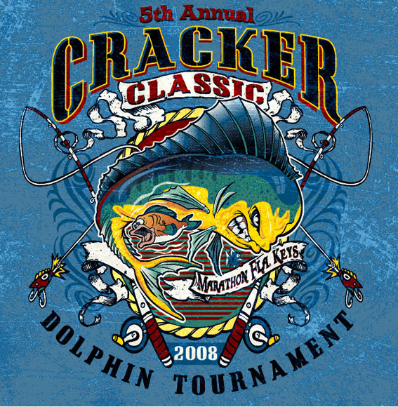 cracker classic dolphin fish by Greg Dampier - Illustrator & Graphic Artist of Portland, Oregon