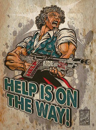 Uncle Sam help by Greg Dampier - Illustrator & Graphic Artist of Lake Wales, Florida