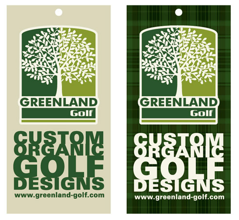 greenland golf hang tags by Greg Dampier - Illustrator & Graphic Artist of Portland, Oregon