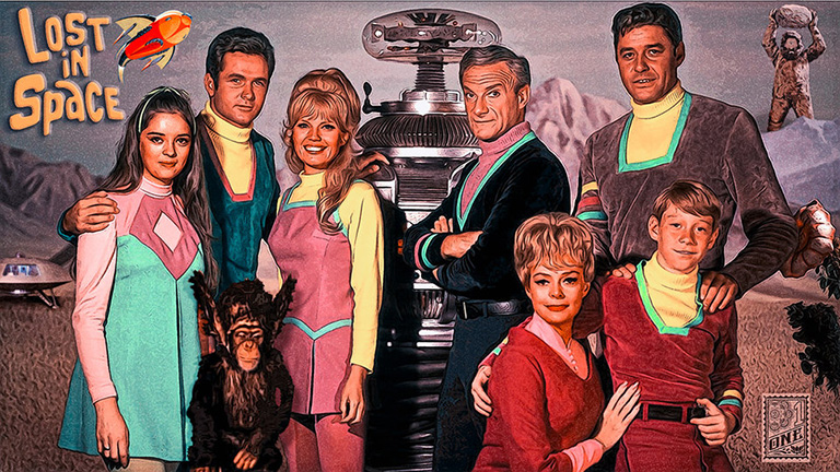 vintage Lost in space poster by Greg Dampier - Illustrator & Graphic Artist of Lake Wales, Florida