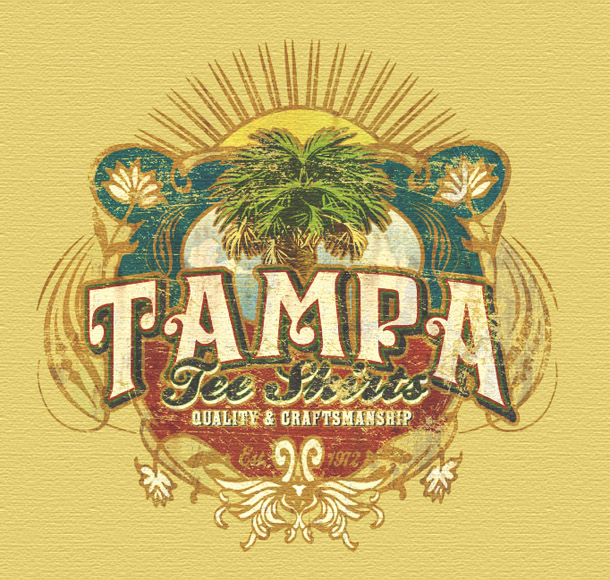 tampa tee shirts promo tee by Greg Dampier - Illustrator & Graphic Artist of Portland, Oregon