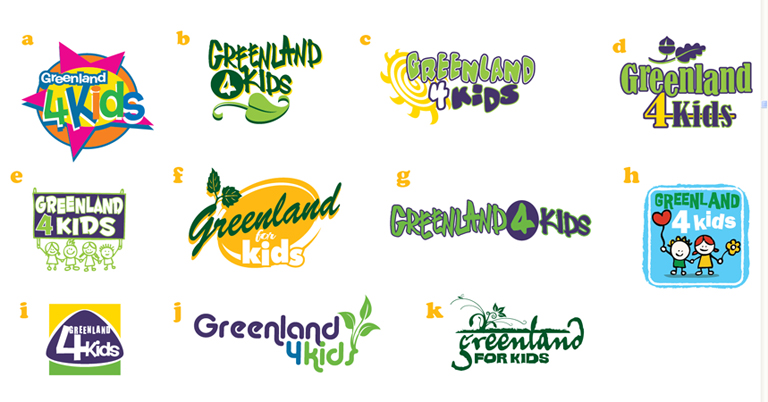 greenland 4 kids logos by Greg Dampier - Illustrator & Graphic Artist of Portland, Oregon