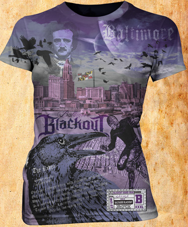 Blackout tee Baltimore by Greg Dampier - Illustrator & Graphic Artist of Portland, Oregon
