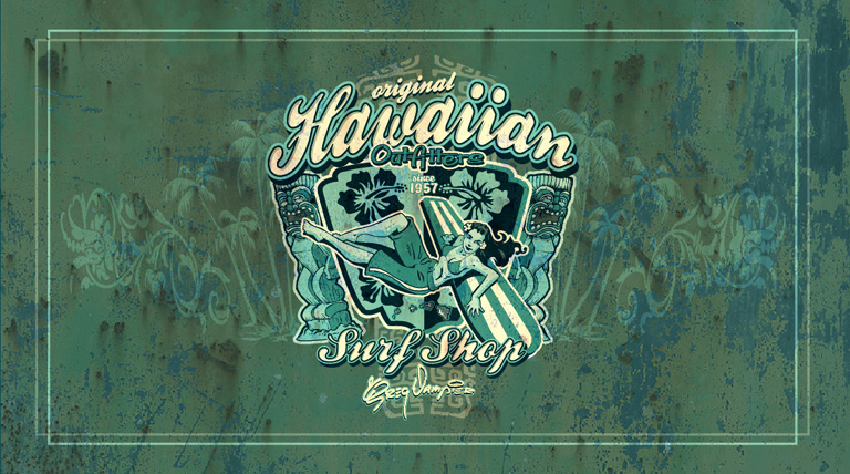 hawaiian outfitters by Greg Dampier - Illustrator & Graphic Artist of Portland, Oregon