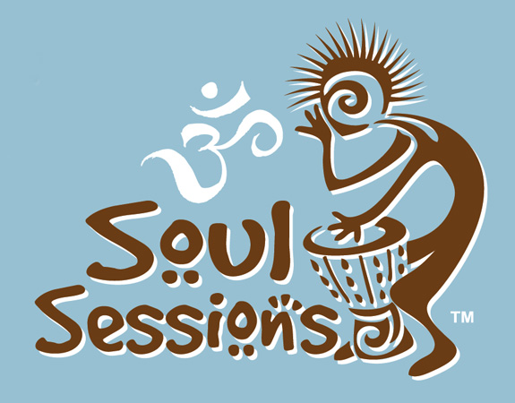 Soul Sessions Logo blue brown by Greg Dampier - Illustrator & Graphic Artist of Lake Wales, Florida