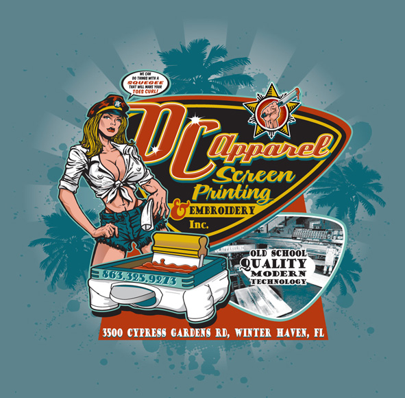 dc apparel promo tee by Greg Dampier - Illustrator & Graphic Artist of Lake Wales, Florida