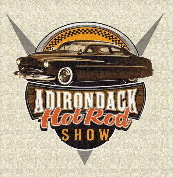 adirondack hot rod show front by Greg Dampier - Illustrator & Graphic Artist of Portland, Oregon