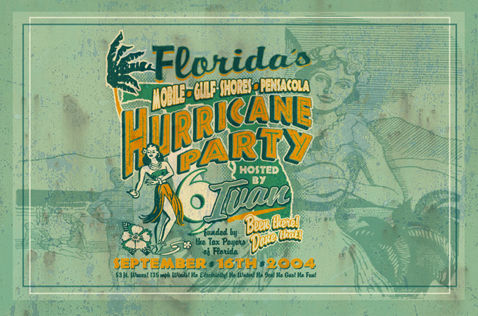hurricane party by Greg Dampier - Illustrator & Graphic Artist of Lake Wales, Florida