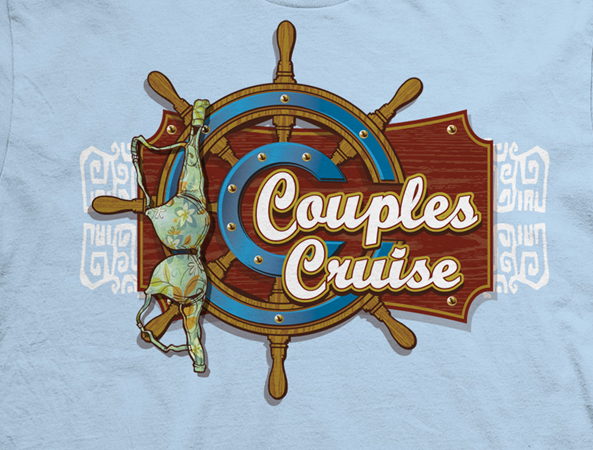 Couples Cruise logo tee by Greg Dampier - Illustrator & Graphic Artist of Portland, Oregon