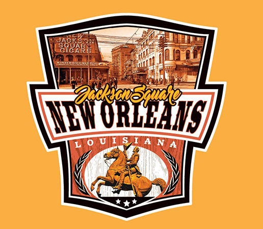 New Orleans Jackson Square tee by Greg Dampier - Illustrator & Graphic Artist of Portland, Oregon