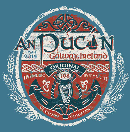 An Pucan Pub Ireland Tee by Greg Dampier - Illustrator & Graphic Artist of Portland, Oregon