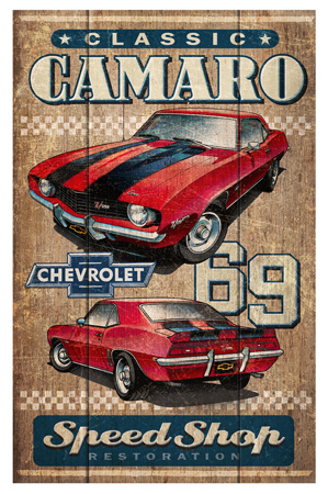 Classic Camaro Speed Shop by Greg Dampier - Illustrator & Graphic Artist of Portland, Oregon