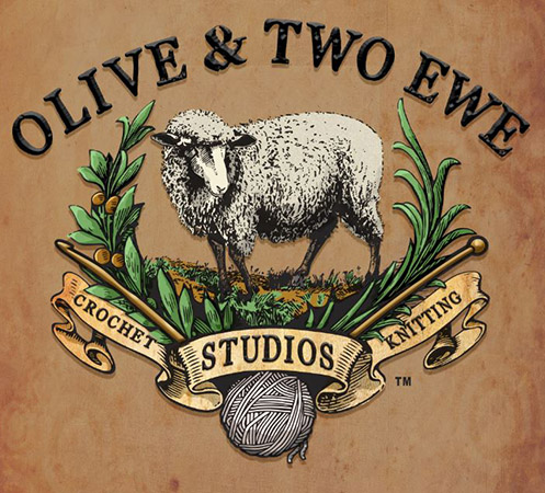 Olive & Two Ewe Studioas Logo full color by Greg Dampier - Illustrator & Graphic Artist of Lake Wales, Florida
