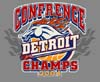 T Shirts • Sports Related • Detroit Conference Champs 04 2 by Greg Dampier All Rights Reserved.