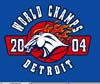 T Shirts • Sports Related • Detroit World Champs 04 1 by Greg Dampier All Rights Reserved.