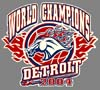 T Shirts • Sports Related • Detroit World Champs 04 2 by Greg Dampier All Rights Reserved.
