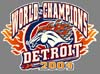 T Shirts • Sports Related • Detroit World Champs 04 3 by Greg Dampier All Rights Reserved.